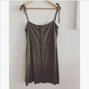 Topshop olive green dress sz: 10
